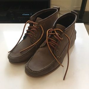 LL Bean leather Jackman Ranger moccasin boots